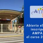 Abierto el plazo de inscripción de Socios del AMPA para el curso 2018-2019