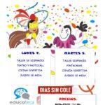 Días 4 y 5 de marzo no lectivos el AMPA subvenciona con 2 € actividades en Educateca