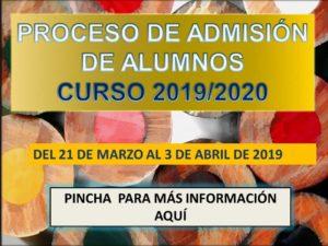 Proceso de admisión de alumnos