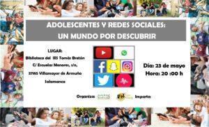 Charla. Adolescentes y Redes Sociales: Un mundo por descubrir.