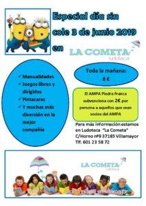 Actividades en La Cometa el día 3 de Junio festivo en Villamayor